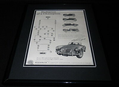 1958 MG MGA Framed 11x14 ORIGINAL Vintage Advertisement