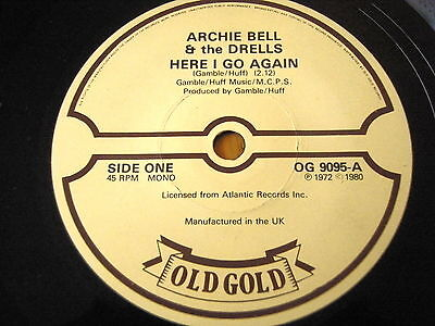 """Archie Bell - Here I Go Again / Tighten Up  7"""" Old Gold Vinyl"""