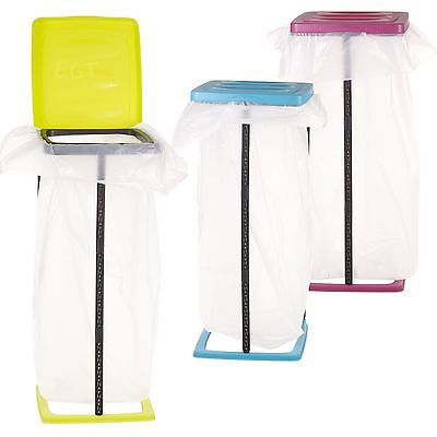 60L Collapsible Bin Bag Stand Plastic Garbage Waste Rubbish Refuse Sack Holder