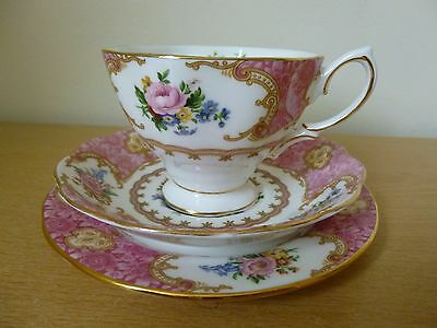 Royal Albert Lady Carlyle Trio - Cup Saucer Side Plate - 6 Available