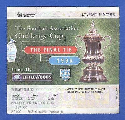 Manchester United FC v Liverpool FC FA Cup Final 1996 MATCH TICKET