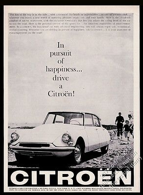 1959 Citroen DS19 car photo vintage print ad