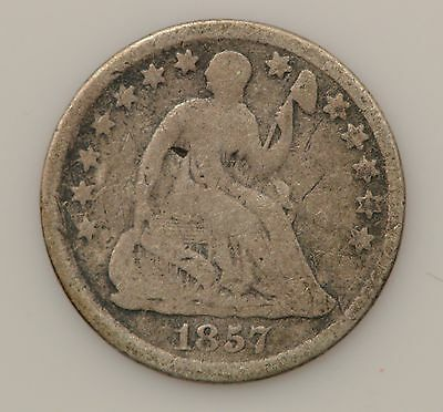 1857-P Seated Liberty Silver Half Dime *068