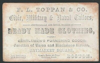 1860s Boston Tailor & Military, Naval & Civilian Ready-Made Clothing Card