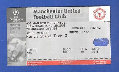 Manchester United v Juventus FC UEFA Champions League 1996 MATCH TICKET