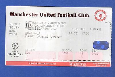 Manchester United v Juventus FC UEFA Champions League 1997 MATCH TICKET