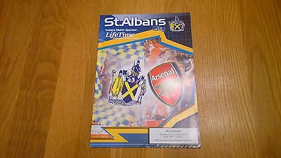2003-04 St Albans v Arsenal - Friendly RARE unbeaten season