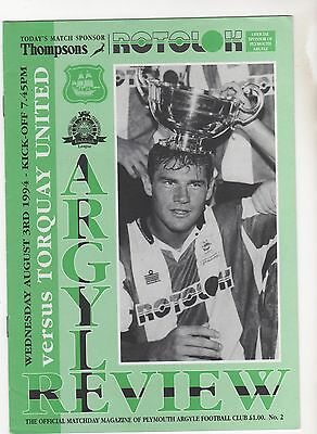 Plymouth V Torquay 1994 Friendly