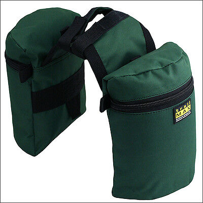 Outfitters Supply Horse Rider Trailmax Junior Horn Pommel Saddle Bags Green