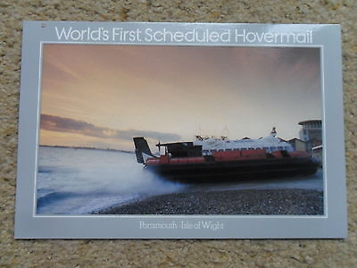 Postcard.hovercaft  First Scheduled Hovermail Postmark 1981 Rare..