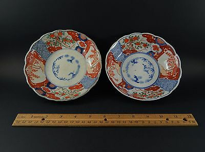 Pair Antique Edo Japanese Arita Imari Fuki Chosun Bowls Early 19th Century 6""