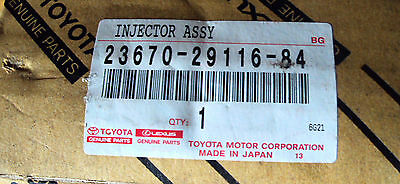 Toyota Lexus Injector Assy 23670-29116-84 Brand New Still In Box Genuine Parts