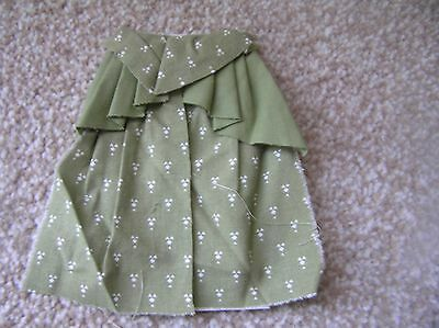 "CURTAIN TO FIT WINDOW 6"" x 3"" MADE AND PATTERN SAGE GREEN FABRIC"