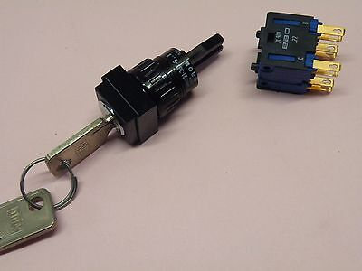High Quality Swiss Key Operated Switch 2ea NO & NC Contact 3 Pos 2 Key CC19