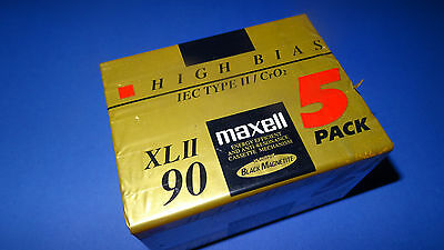 5 x maxell xl II 90 Black Magnetite HighEnd Cassettes heavy shell version sealed