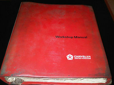 Hillman Hunter Range Factory Workshop Manual Chrysler inc Sceptre Gazelle Rapier