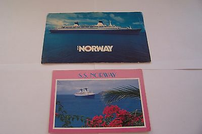 2 Cartes Postales Paquebot Ss Norway
