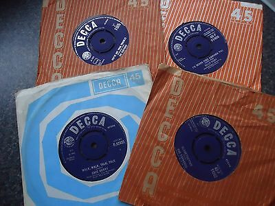 Lot Of 4  Uk 1960S  Decca 45S All Excellent