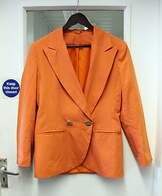 Vintage Orange 80s Style Box Blazer Jacket Retro