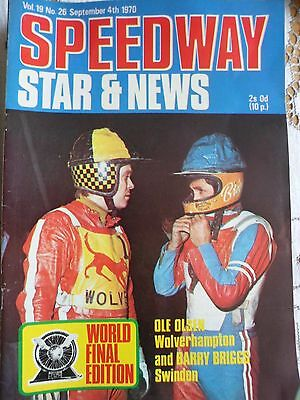 Speedway Star and News 4th September 1970