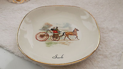 Weatherby Pin Tray Showing A Horse And Trap   And   Sark