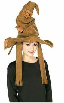 Harry Potter Brown Sorting Hat Licensed Halloween Costume Accessory Adult New