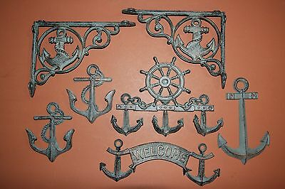 (7) Seafood Restaurant Vintage-Look Anchor Wall Decor Bronze-Look Anchor, B-39