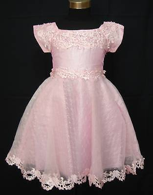 New Pink Flower Girl Party Pageant Dress 18-24 Months
