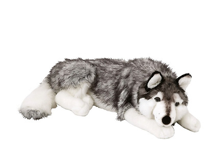 Husky Dog Cuddly Toy Soft Puppy Plush Toys Cute Adorable Stuffed White