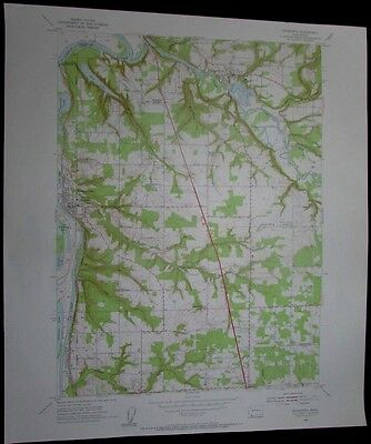 Ridgefield Washington Lake River Lewis River vintage 1956 old USGS Topo chart