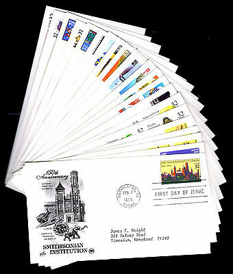 1996 U.s. First Day Covers - Lot Of 21 - Vf - Cv $28.25 (Esp#4382)