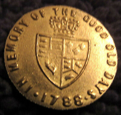 1788 Brass Token Old Coin London Royal Mint Great Britian English Good Old Days