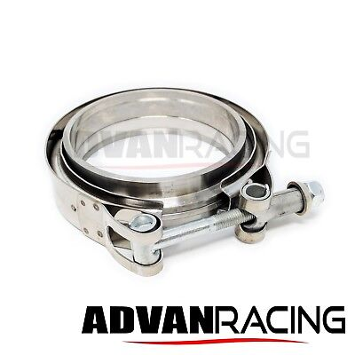 "V-Band Clamp and Male/Female Flange Set - 3.5inch  3.5"" inch I.D. V band Set"
