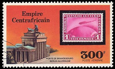 CENTRAL AFRICAN REPUBLIC C186 - Airship Zeppelin 75th Anniversary (pa6518)