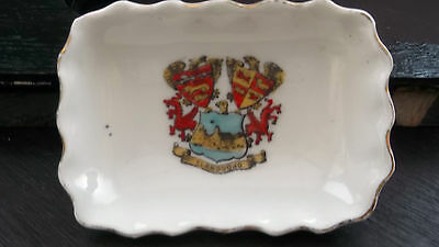 Vintage Small Oblong Dish By Gemma China Crested Llandudno