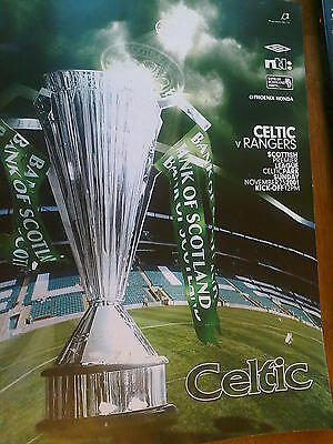 Celtic v Rangers 25th November 2001 Official  Matchday Programme