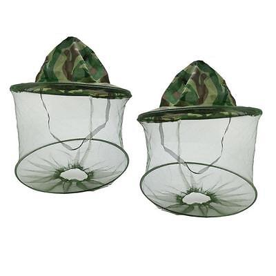 2PC Net Mesh Face Protector Cap Insect Bee Mosquito Resistance Sun Fish Hat