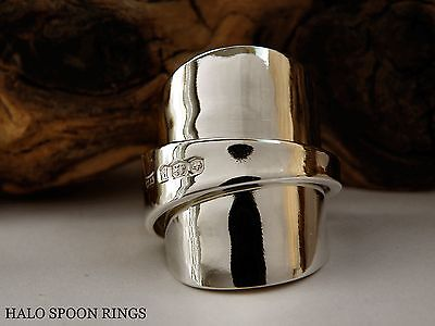 Stunning And Chunky Ladies Solid Silver Spoon Ring 1932  Ideal Mothers Day Gift