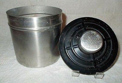 "VINTAGE KODAK ADJUSTABLE FILM TANK CANISTER 5"" tall, 4-1/4"" diameter"