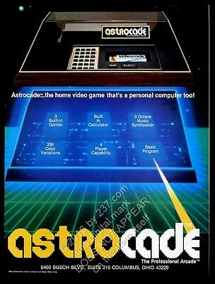 1983 Astrocade video game system photo vintage print ad