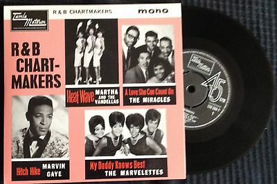 R&b Chartmakers. Ep Motown-Martha-Miracles-Marvin Gaye-The Mavelettes-Mint
