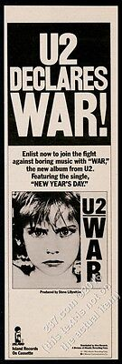 1983 U2 band New Year's Day song release vintage print ad