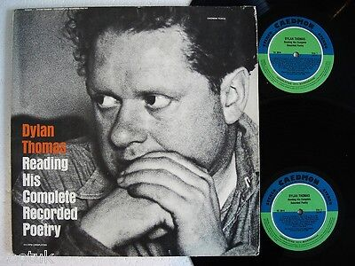DYLAN THOMAS Reading His Complete Poetry CAEDMON 2 LPs