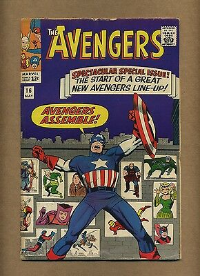 Avengers 16 (Solid!) Hawkeye, Scarlet Witch, Quicksilver join; Kirby (c#13128)