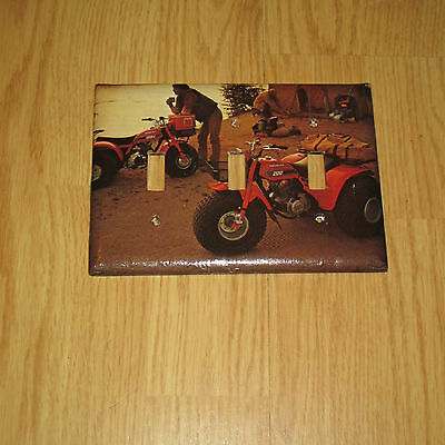 CLASSIC HONDA ATC ATV 3 HOLE Light Switch Cover Plate ~ GREAT FOR YOUR GARAGE ~