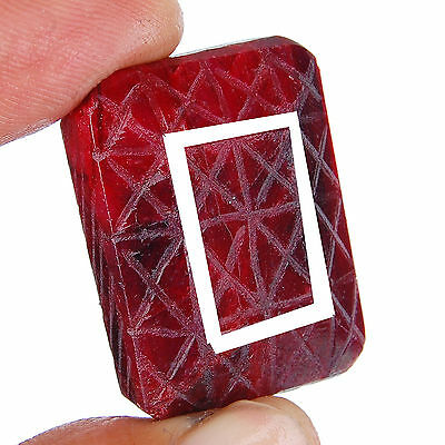 129 Cts Natural Huge Ruby Pigeon Blood Red Finest Moghul Carving Gemstone