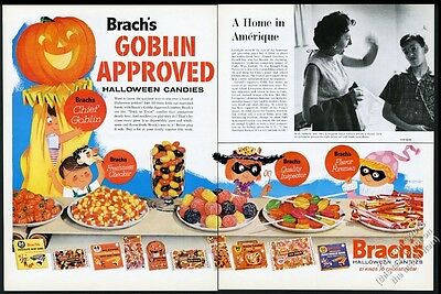 1961 Brach's Halloween candy Goblin Approved color art vintage print ad