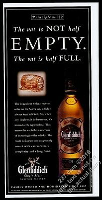 2001 The Glenfiddich Solera Reserve 15 year old Scotch Whisky & vat print ad
