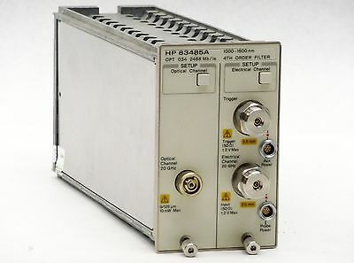 HP AGILENT 83485A 20GHz OPTICAL/ELECTRICAL 2488Mb/s 1000-1600nm OPT 034 MODULE