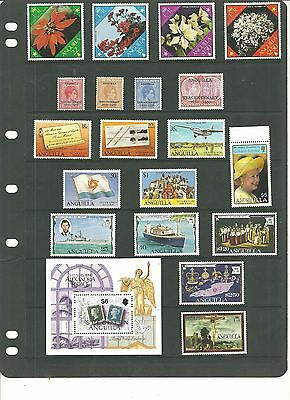 Anguilla Collection Of Various Sets&selection Inc Kgvi From Old Album Mint Nh/vf